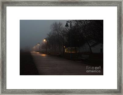 Foggy Morning Kew Beach Framed Print
