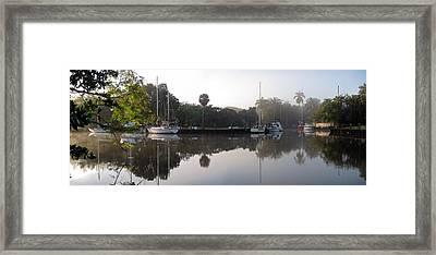 Foggy Morning On North Fork Framed Print by Matt Tilghman