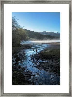 Foggy Morning On The Lake  Framed Print