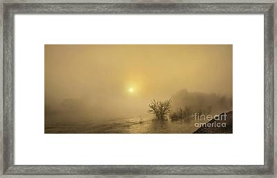Foggy Morning On The Payette River Framed Print