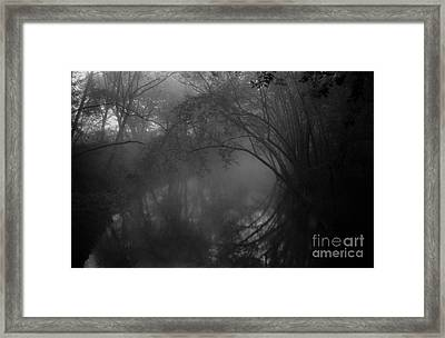Foggy Morning On The River Framed Print by Lowell Anderson