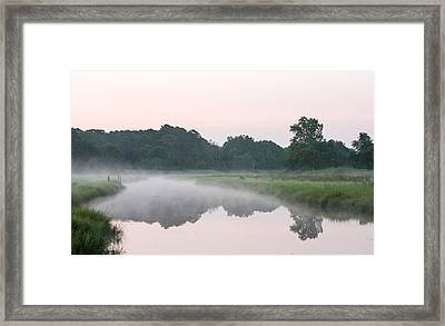 Foggy Morning Reflections Framed Print by Allan Levin