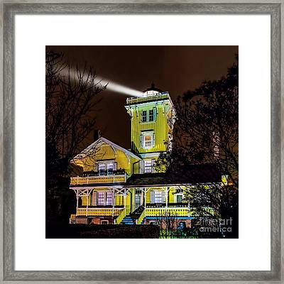 Framed Print featuring the photograph Foggy Night At Hereford by Nick Zelinsky