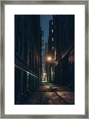 Foggy Night Chicago Framed Print