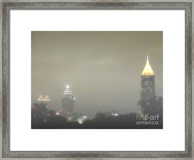 Foggy Night In Atlanta Framed Print