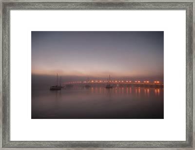 Foggy Nights Of Lights Framed Print