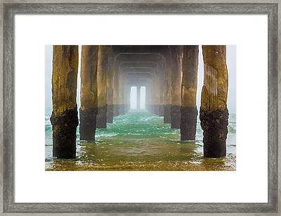 Coastal Fog Framed Print by April Reppucci