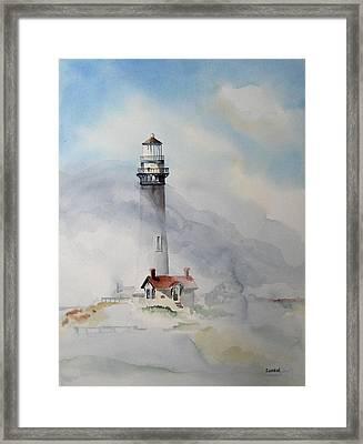 Foggy Point Framed Print