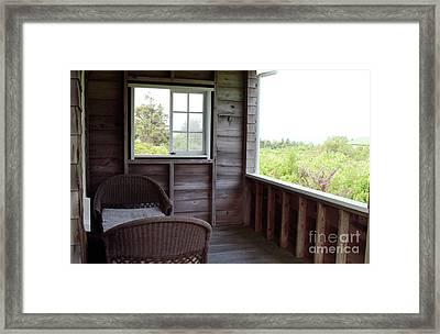 Foggy Porch Hideaway Framed Print by Georgia Sheron