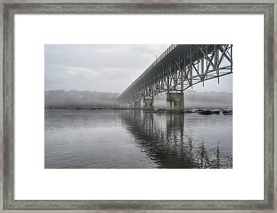 Foggy Reflection Framed Print