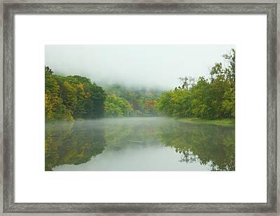 Foggy Reflections Framed Print by Karol Livote