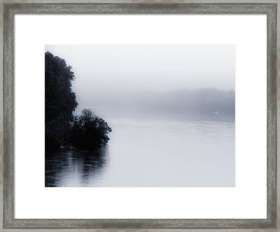 Foggy River Framed Print by Bill Cannon
