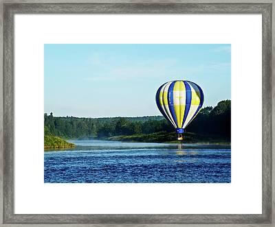 Foggy River Wander Framed Print by Ragina Kakos