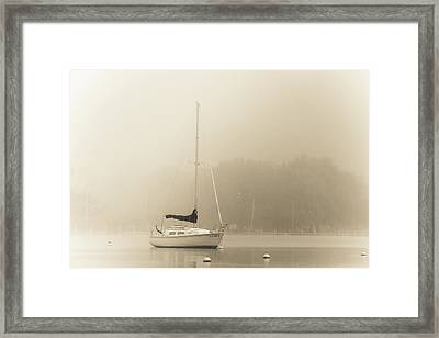 Framed Print featuring the photograph Foggy Sail by Joel Witmeyer