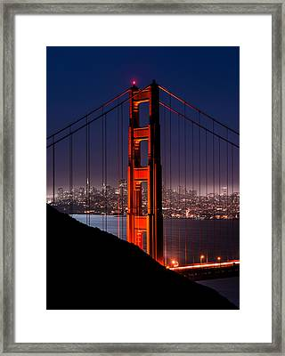 Foggy San Fransisco Framed Print
