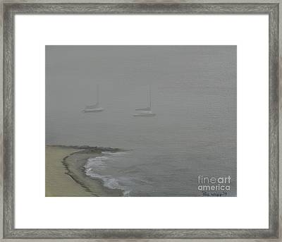 Foggy Shore Framed Print by Paul Walsh