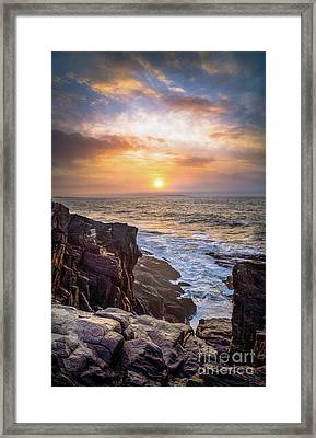 Foggy Sunrise From The Giant Stairs Framed Print by Benjamin Williamson