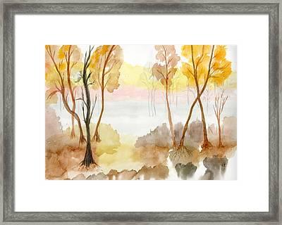 Foggy Suwannee Framed Print by Warren Thompson