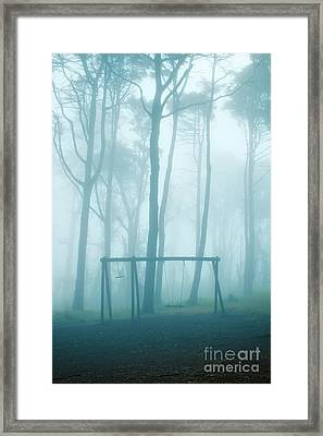 Foggy Swing Framed Print by Carlos Caetano