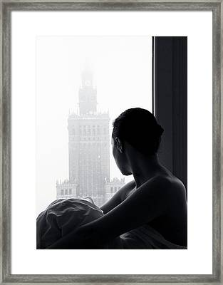 Foggy Waiting Framed Print by Paralaxa
