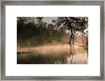 Framed Print featuring the photograph Foggy Water by Annette Berglund
