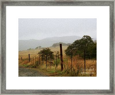 Foggy Wet Morning Framed Print by Robert Ball