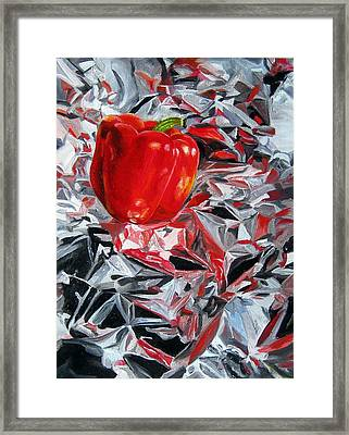 Foil Reflections Framed Print by LaVonne Hand