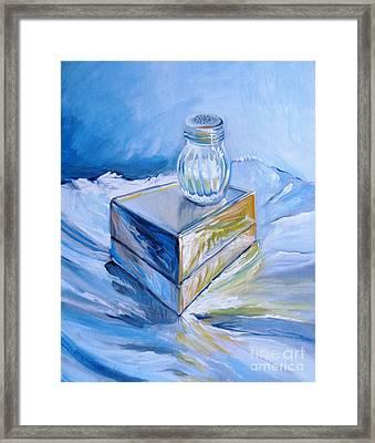 Foil, Silver Box, Salt Framed Print by Vanessa Hadady BFA MA