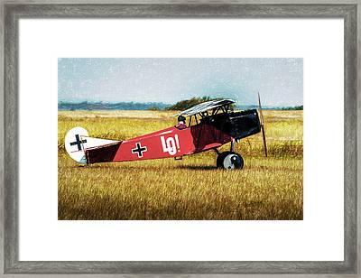 Framed Print featuring the photograph Fokker D Vii by James Barber