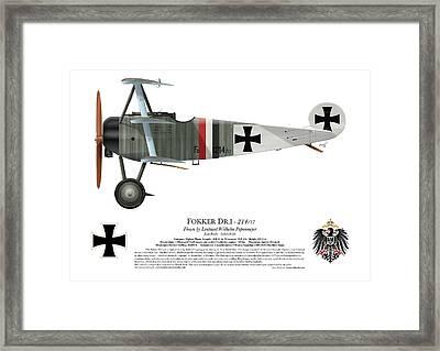 Fokker Dr.1 - 214/17 - March 1918 Framed Print by Ed Jackson