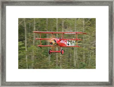Fokker Dr.i Flyby Framed Print by Liza Eckardt