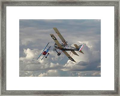 Fokker Dvll And Se5 Head To Head Framed Print by Pat Speirs
