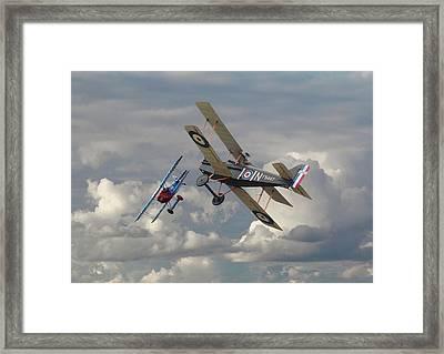 Fokker Dvll And Se5 Head To Head Framed Print