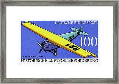 Fokker Fiii Framed Print