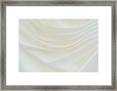 Folded Fabric Waves Framed Print by Meirion Matthias