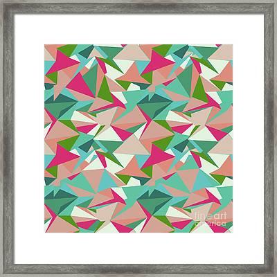 Folded Geometric Framed Print
