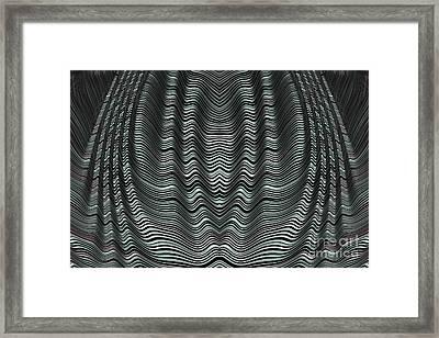 Folded Grey Framed Print by John Edwards