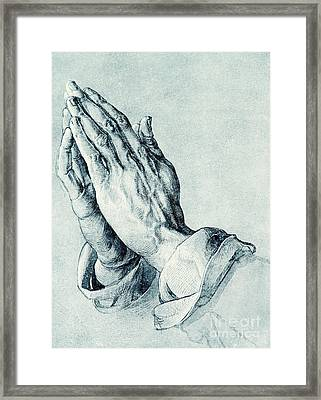Folded Hands Of An Apostle Framed Print