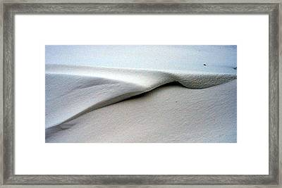 Framed Print featuring the photograph Folded Over Snowdrift by Jack G  Brauer