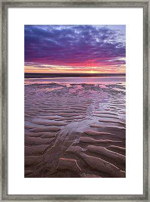 Folds In The Sand - Vertical Framed Print