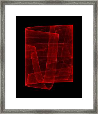 Folds Over I Framed Print