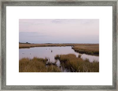 Folgers Marsh Nantucket Framed Print
