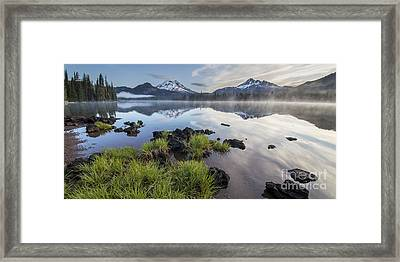 Foliage Along Sparks Lake Framed Print by Twenty Two North Photography
