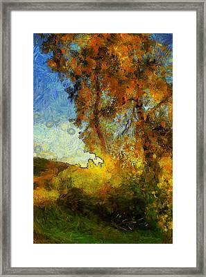 Foliage Van Gogh Style Framed Print
