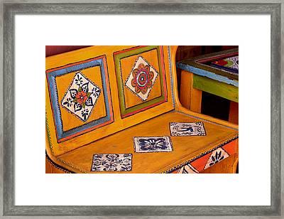 Folk-art Bench Framed Print