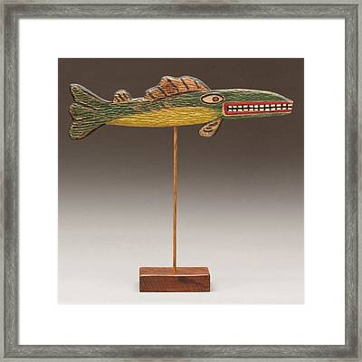 Folk Art Fish Framed Print by James Neill