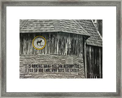 Folk Art Quote Framed Print by JAMART Photography