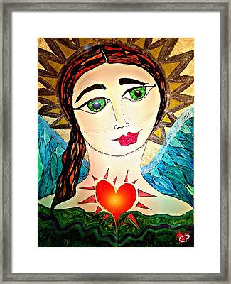 Folk Athena Framed Print