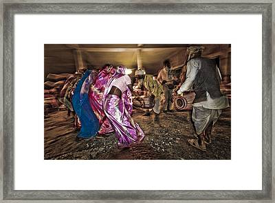 Folk Dance Framed Print by Hitendra SINKAR
