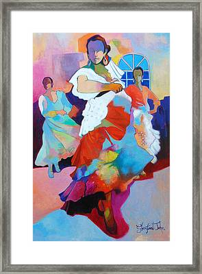 Folk Dancers Framed Print